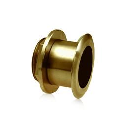 """Product #  A102112 <br /> <ul> <li>12° Tilted Element Transducer</li> <li>Dual Frequency 50/200 kHz</li> <li><span class=""""bluebold"""">Power 1 kW RMS </span></li> <li>Suitable w/ Wood & Fiberglass</li> <li>Depth & Temperature Transducer</li> </ul>"""