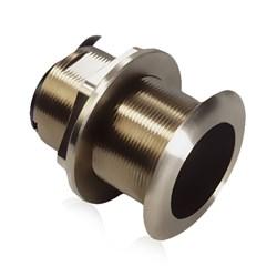 """Product #  E66085 <br /> <ul> <li>20&deg; Tilted Element Transducer</li> <li>Dual Frequency 50/200 kHz</li> <li><span class=""""bluebold"""">Power 600w RMS</span></li> <li>Suitable w/ Wood &amp; Fiberglass</li> <li>Depth &amp; Temperature Transducer</li> </ul>"""