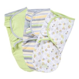 summer infant swaddleme cotton s/m 3 pack   busy bees