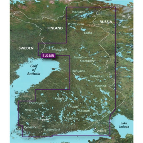 garmin bluechart g3 hxeu055r finnish lakes