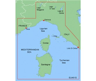 garmin bluechart g2 heu451s ligurian sea corsica and sardinia