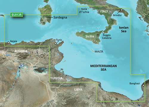 garmin bluechart g3 hxeu013r italy southwest and tunisia