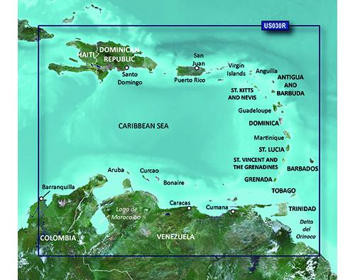 garmin bluechart g2 hd hxus030r southeast caribbean