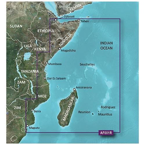 garmin bluechart g2 hd hxaf001r eastern africa