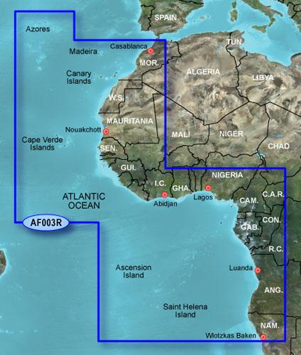 garmin bluechart g2 hd hxaf003r western africa