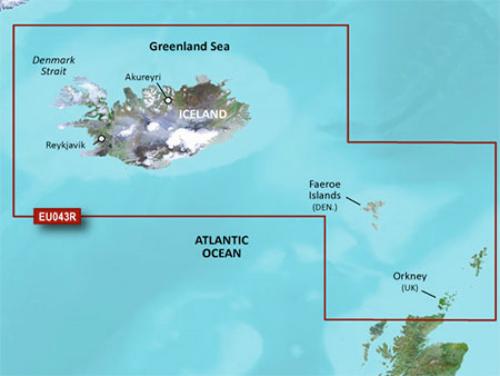 garmin bluechart g3 hxeu043r iceland to orkney
