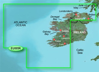 garmin bluechart g2 heu005r ireland west coast