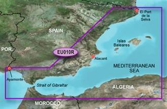 garmin bluechartg2 heu010r spain mediterranean coast