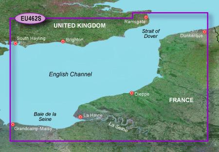 garmin bluechart g2 heu462s english channel east
