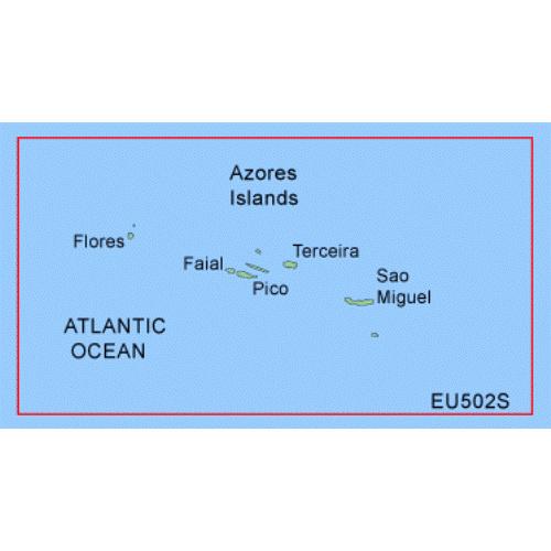 garmin bluechart g2 heu502s azores islands