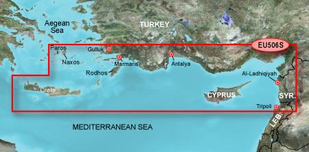 garmin bluechart g2 heu506s crete to cyprus