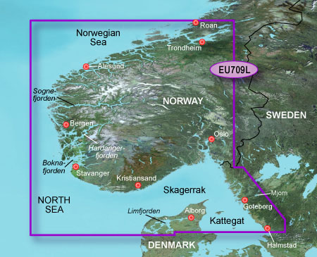 garmin bluechart g2 heu709l south norway