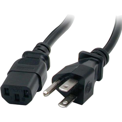StarTech 3 ft Standard Computer Power Cord NEMA5-15P to C13 PXT101/_3