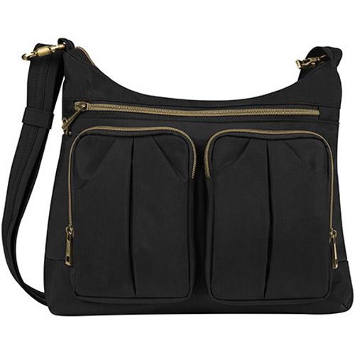 travelon anti theft signature twin pocket hobo bag