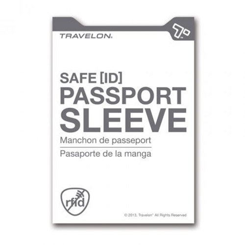 travelon set of 2 rfid passport sleeves white