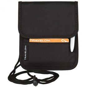 travelon id and boarding pass holder black