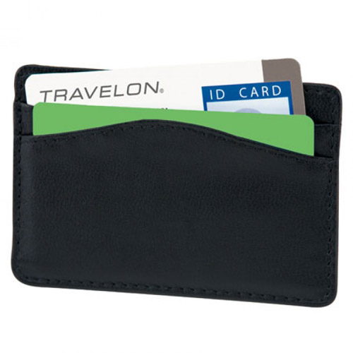 travelon safe id leather card sleeve
