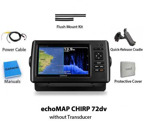 garmin echomap chirp 72dv without transducer