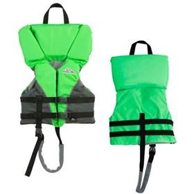 stearns child heads up nylon life vest jacket green
