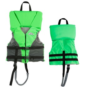 stearns youth heads up nylon life vest jacket green