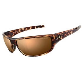 tifosi bronx brown polarized lens sunglasses tortoise