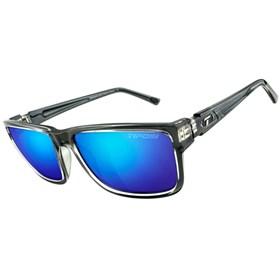 tifosi hagen xl smoke bright blue lens sunglasses gloss black