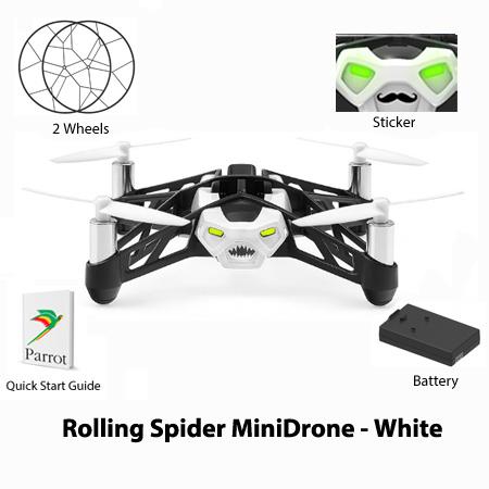 parrot rolling spider minidrone white