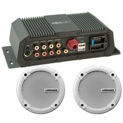 """Product # 000-12301-001 <ul> <li><span class=""""blackbold"""">SonicHub&reg;2 Marine Audio Server</span></li> <li>50 W, 6.5"""" Speakers</li> <li>NMEA 2000&reg; Control</li> <li><span class=""""bluebold"""">Built-in Bluetooth Connectivity</span></li> <li>No Need for External Dongle</li> <li>Dual Stereo AUX Line Input for Audio</li> <li>4 Channel x 50 Watt Speaker Amplifier</li> </ul>"""