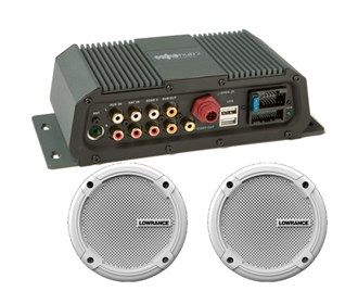 lowrance sonichub marine audio server with 6 5 inch speakers