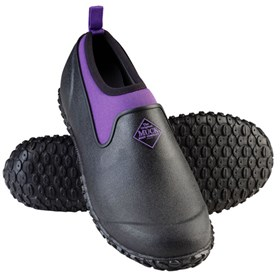 womens muckster ii low black purple