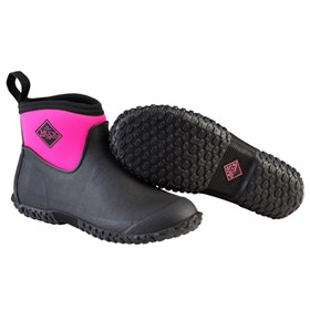 womens muckster ii ankle black pink