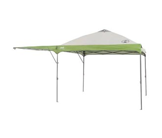 coleman 10 ft x 10 ft single swing wall canopy