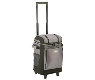 coleman 42 can wheeled cooler grey