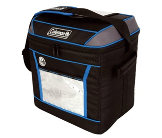 coleman soft 24hr cooler liner blue 30 can