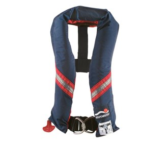 stearns inflated boating stole with harness navy