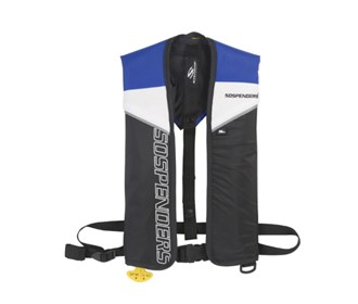 stearns sospenders manual inflatable life jacket blue