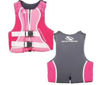 stearns youth hydropropane pink purple life jacket