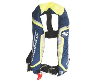 stearns c tek 38g auto manual inflatable life vest blue yellow