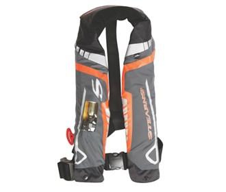 stearns c tek 33g auto manual inflatable life jacket orange gray