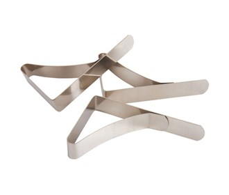 coleman stainless steel tablecloth clamps