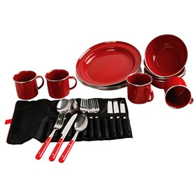 coleman dishware rugged 24 pc family set