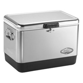 coleman 54 quart stainless steel cooler