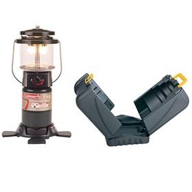 coleman deluxe perfectflow propane lantern with hard case