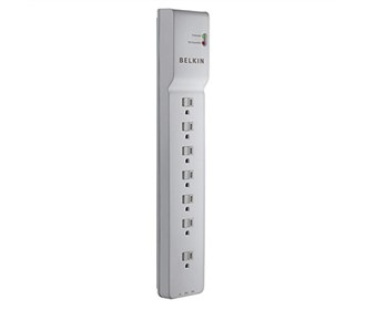 belkin 7 outlet home office surge protector 6 inch cord