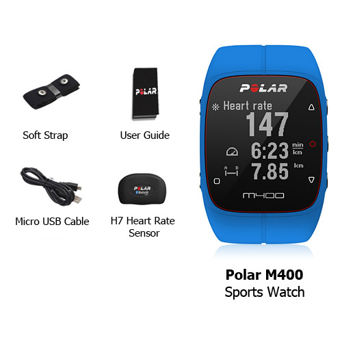polar m400 sports watch with gps and hrm