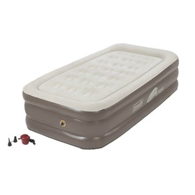 coleman supportrest plus pillowstop double high twin size airbed