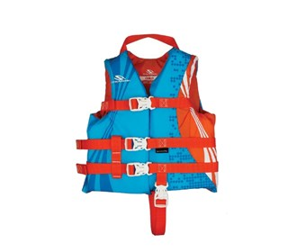 stearns anti microbial child vest blue