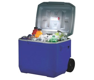 coleman cold glow cooler light blue