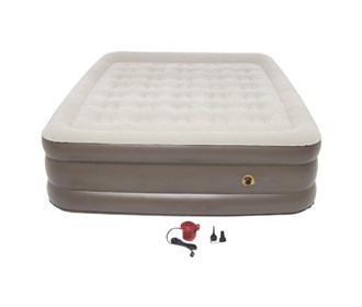 coleman supportrest plus pillowstop double high queen size airbed