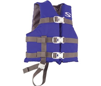 stearns classic series child life vest blue grey